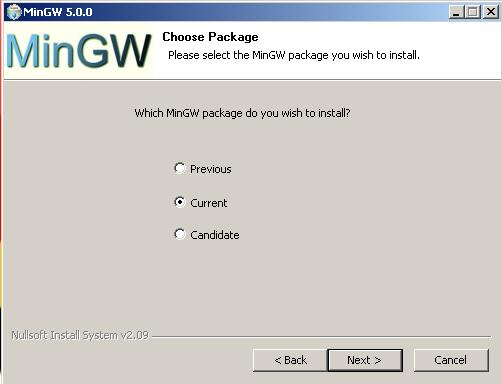 MinGW 5 install